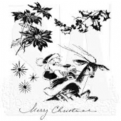 Stampers Anonymous/Tim Holtz - Cling Mount Stamp Set - Christmas Time - CMS141